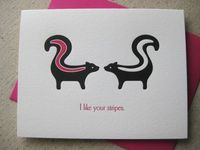 Skunks letterpress