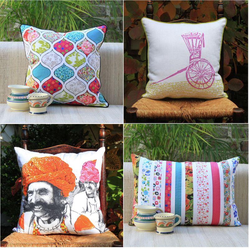 Plum chutney cushions