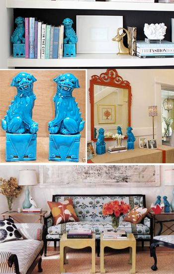 Foo dogs collage