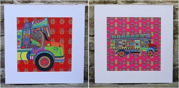 Plum chutney truck prints
