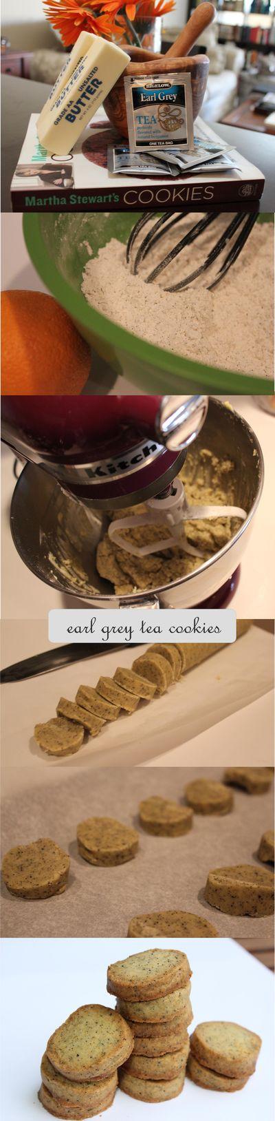 Earl grey cookies prep