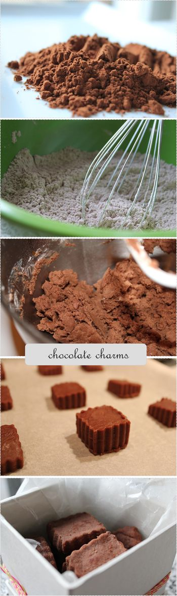 Chocolate charms collage