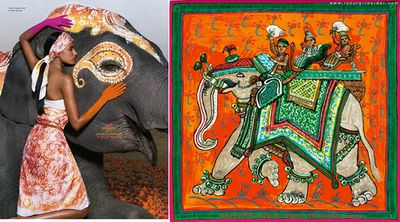 Hermes scarf and ad campaign