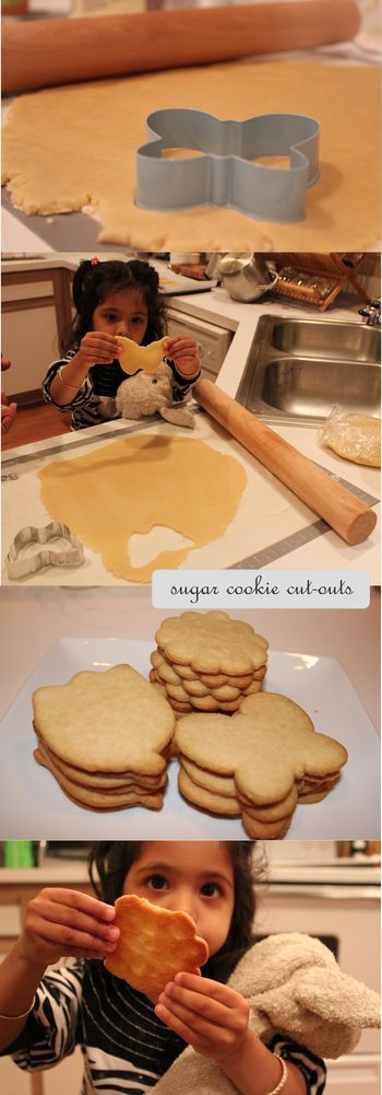 Sugar cookies making