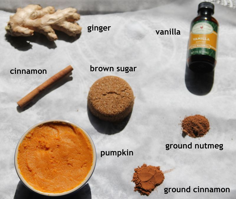 Pumpkin ice cream ingredients