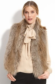 Faux fur bow blouse pinterest