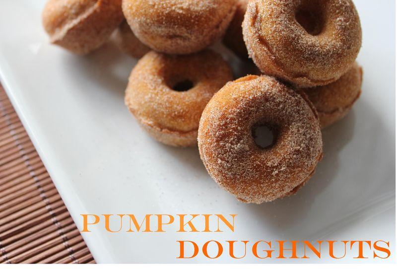 Pumpkin doughnuts main