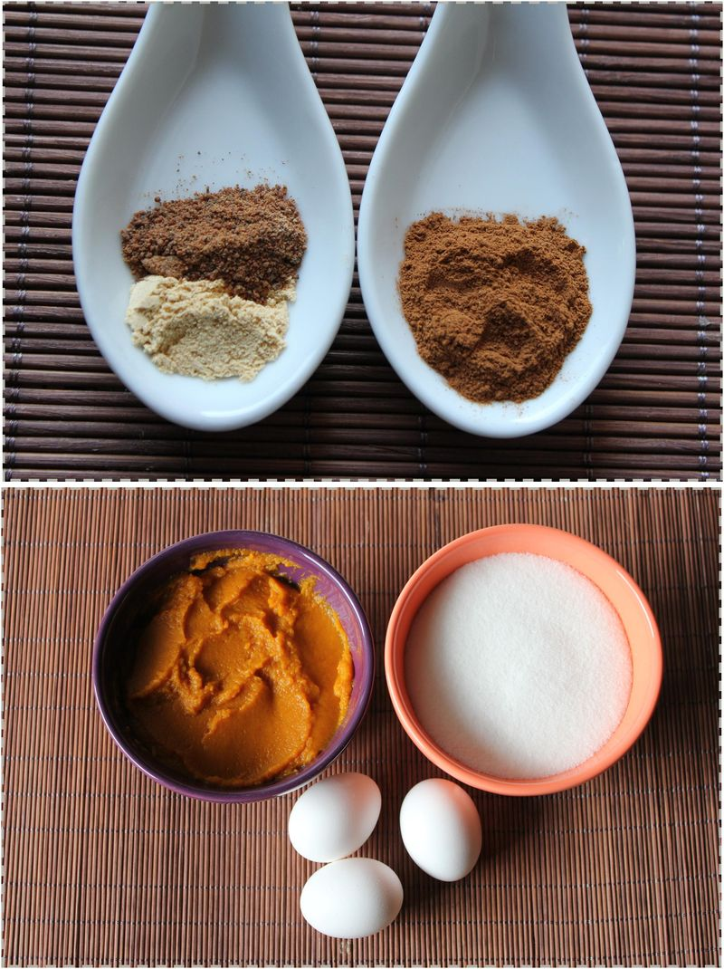 Pumpkin doughnuts ingredients