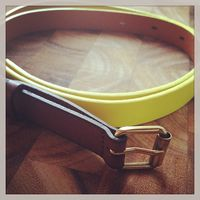 Madewell yellow belt