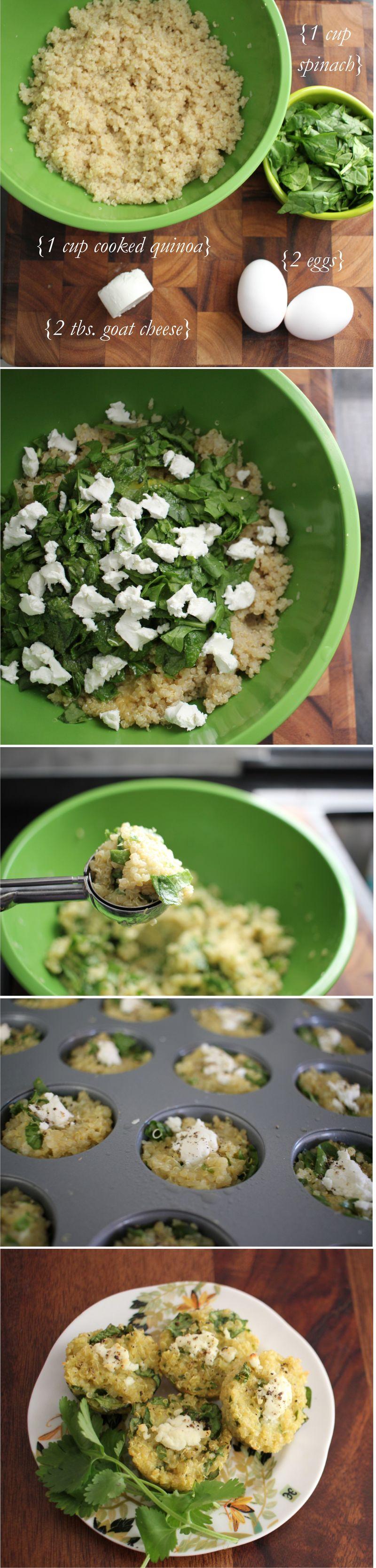 Quinoa muffins steps