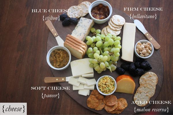 indian inspired cheese plate (pink rickshaw)